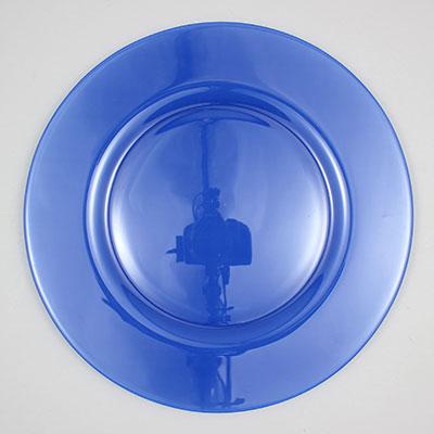 """צלחת 32 ס""""מ סול כחול-פפרבלו"""