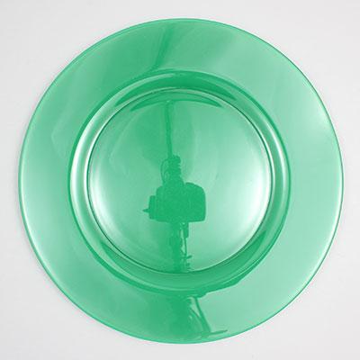 """צלחת 32 ס""""מ סול ירוק-בקבוק"""