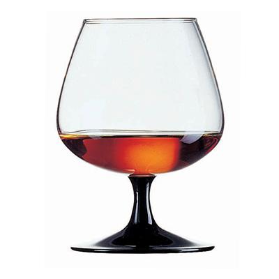 """כוס ברנדי 41 ס""""ל דג'סטיון רגל שחורה"""