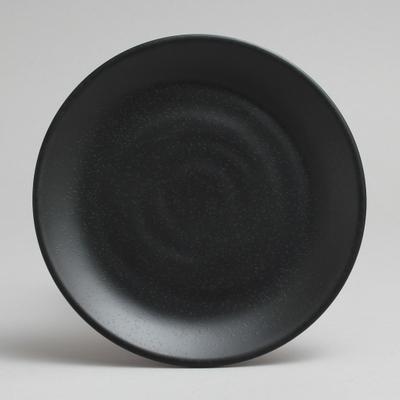 """צלחת זן ווינד 12.7 ס""""מ מלמין שחור"""