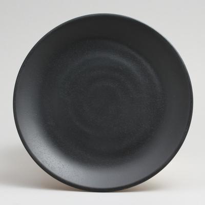 """צלחת זן ווינד 15.2 ס""""מ מלמין שחור"""