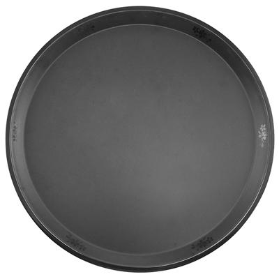 """פלטה עגולה 36 ס""""מ סקורה מלמין שחור"""