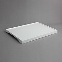 """מגש לחדר מוגבה 29.5X39.5 גובה 2.5 ס""""מ מלמין לבן"""