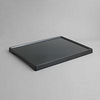 """מגש לחדר מוגבה 29.5X39.5 גובה 2.5 ס""""מ מלמין שחור"""