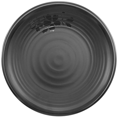 """צלחת פוקט 15.2 ס""""מ סקורה מלמין שחור"""