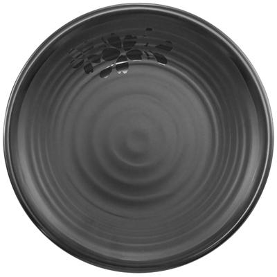 """צלחת פוקט 25 ס""""מ סקורה מלמין שחור"""
