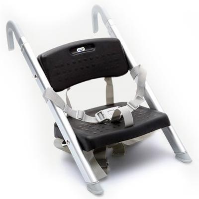 כסא תינוק בוסטר ג'וני אלומיניום מושב פלסטיק שחור
