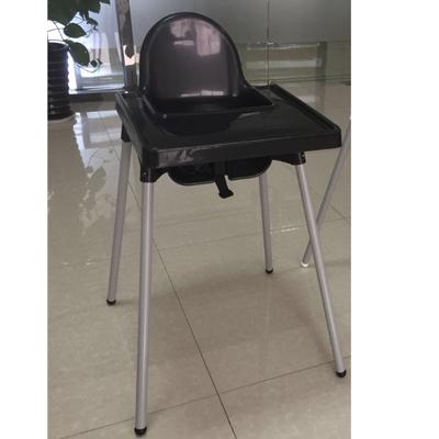 כסא אוכל פלסטיק לתינוק צבע שחור + שולחן
