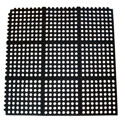 """משטח גומי לריצפה זכר נקבה 91X91 ס""""מ שחור"""