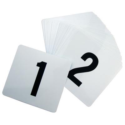 """מספרים לשולחן 1-25 מפלסטיק 10X10 ס""""מ"""