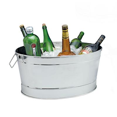 """גיגית אובלית מנירוסטה למשקאות 44×30 גובה 20 ס""""מ"""