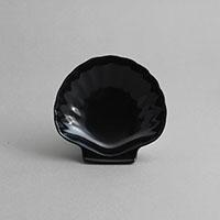 """צדף קטן 10 ס""""מ מלמין שחור"""