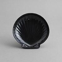 """צדף גדול 15 ס""""מ מלמין שחור"""