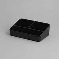 """סטנד לרום סרוויס 11X16 גובה 5 ס""""מ מלמין שחור"""