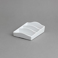 """סטנד לרום סרוויס 10X14 גובה 4.5 ס""""מ מלמין לבן"""