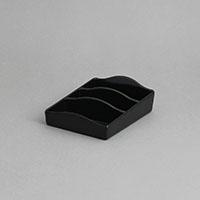 """סטנד לרום סרוויס 10X14 גובה 4.5 ס""""מ מלמין שחור"""