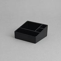 """סטנד לרום סרוויס 10X10.5 גובה 5 ס""""מ מלמין שחור"""