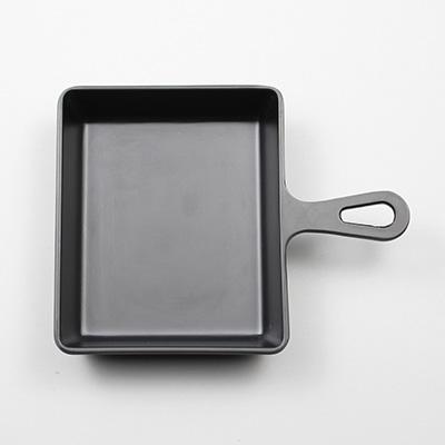 """מחבת ריבועית 12.5 ס""""מ עם ידית שחורה ליטל שף"""