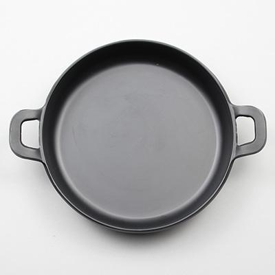 """מחבת עגול 14.5 ס""""מ עם ידיות מלמין שחור ליטל שף"""