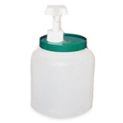 מיכל 2 ליטר פלסטיק עגול לרוטב ומשאבה עם מכסה צבעוני