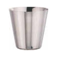 """כוס/כלי קוני נירוסטה 9.5 גובה 10 ס""""מ להגשת צ'יפס"""