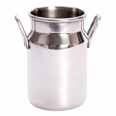 """כד חלב מיניאטורי 14.8 ס""""ל נירוסטה"""
