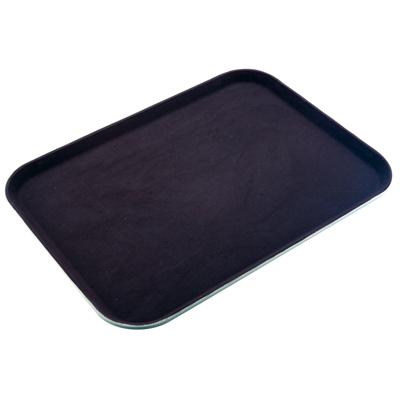 """מגש מלצר מלבני שחור 50X38 ס""""מ פיברגלס+גומי"""