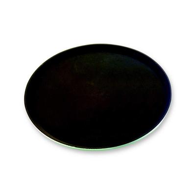 """מגש מלצר עגול שחור 40 ס""""מ פיברגלס + גומי"""