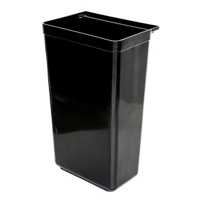 פח אשפה שחור לעגלת שירות