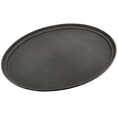 """מגש אובל 68/56 ס""""מ פלסטיק + גומי שחור"""