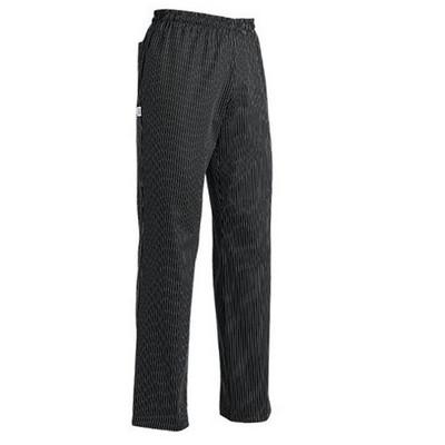מכנס שף פסים שחור