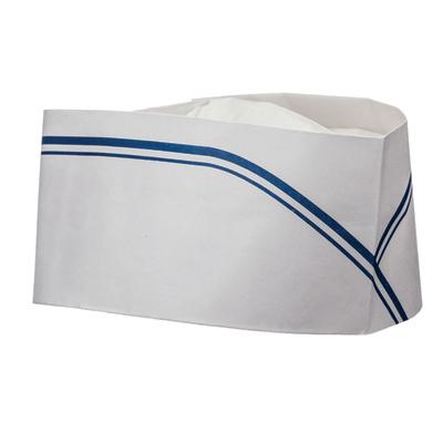 כובע נמוך לטבח מנייר 100 יחידות – צורת סירה