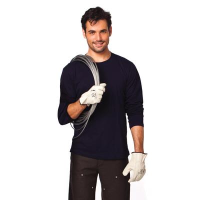 חולצת טריקו כותנה שרוול ארוך שחור/לבן