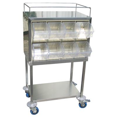 עגלת תבלינים כפולה 16 תאים 4 יחידות רב תא כולל מדף תחתון