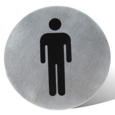 שלט שירותים/גברים נירוסטה