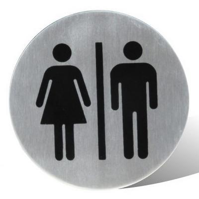 שלט גבר/אישה נירוסטה