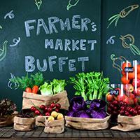 ירקות ופירות לתצוגה