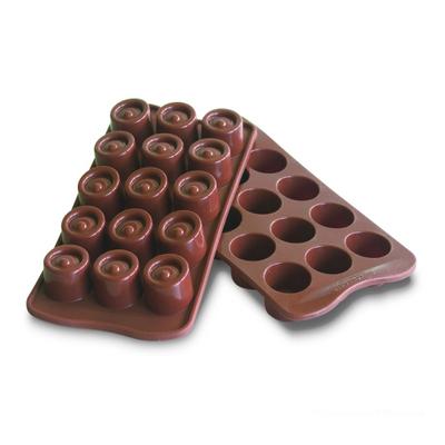 תבנית סיליקון חום לשוקולד