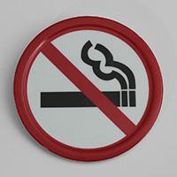 """שלט אסור לעשן 10 ס""""מ מלמין"""