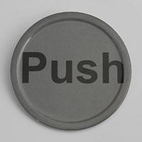 """שלט PUSH לדחוף 10 ס""""מ מלמין"""
