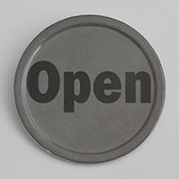 """שלט OPEN פתוח 10 ס""""מ מלמין"""