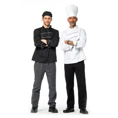 זקט שף איטליקו שחור פסים לבנים