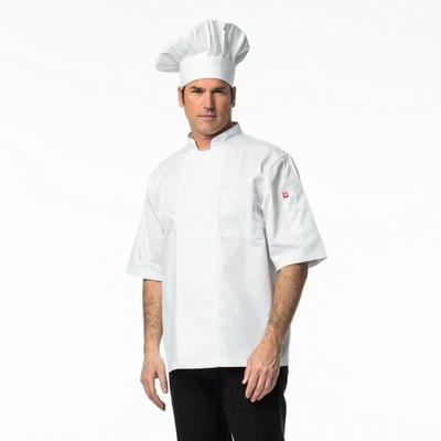 זקט שף פולו דרייפיט שרוול קצר לבן