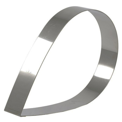 """טבעת טיפה נירוסטה (גדול) גובה 6.5 ס""""מ"""