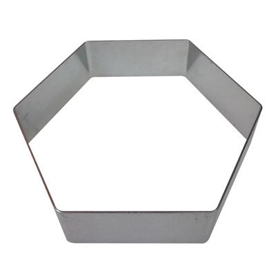 """טבעת משושה נירוסטה (גדול) גובה 6.5 ס""""מ"""