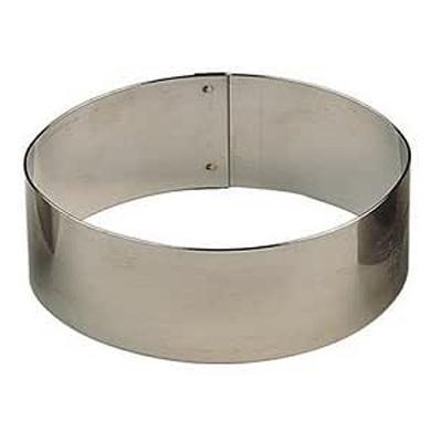 """טבעת אובל נירוסטה (גדול) גובה 6.5 ס""""מ"""