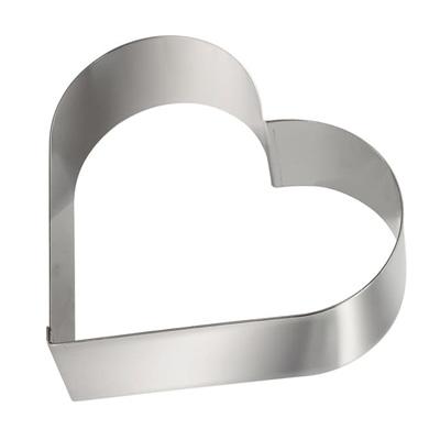 """טבעת לב נירוסטה (גדול) גובה 6.5 ס""""מ"""