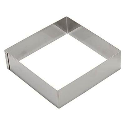 """טבעת מרובע נירוסטה 25X25 גובה 6.5 ס""""מ"""