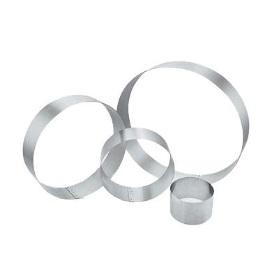 """טבעת נירוסטה גובה 2.5/3/4/5/6 ס""""מ קוטר 6/8/10/12 ס""""מ, עגול (גדלים שונים)"""