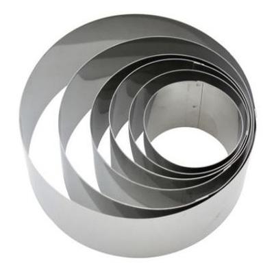 """טבעת נירוסטה גובה 6.5 ס""""מ קוטר 14 ס""""מ עד 24 ס""""מ"""